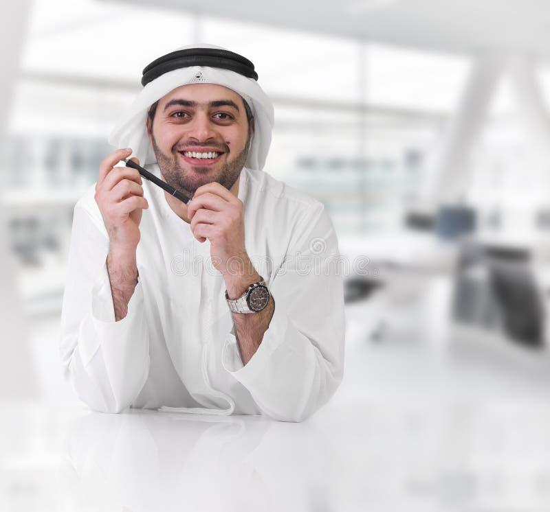 Erfolgreicher arabischer Geschäftsmann/Leitprogramm stockbild