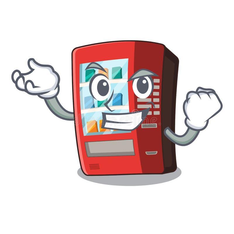 Erfolgreicher Automat lokalisiert mit dem Maskottchen lizenzfreie abbildung