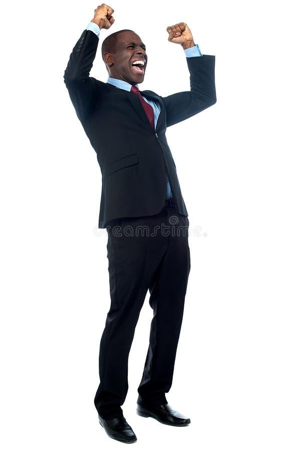 Erfolgreicher junger Geschäftsmann stockfotos