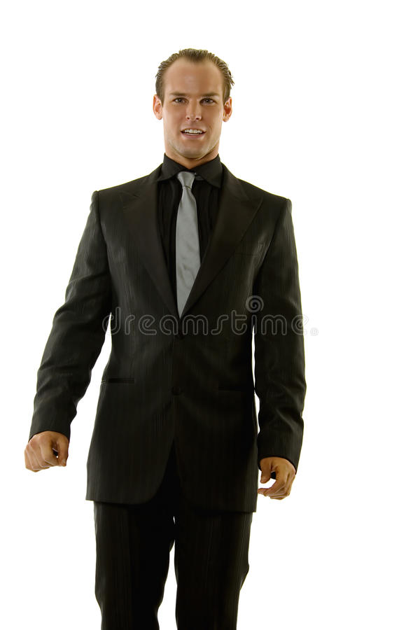 Erfolgreicher junger Geschäftsmann lizenzfreies stockfoto