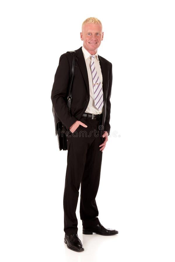 Erfolgreicher lächelnder Geschäftsmann lizenzfreie stockfotos