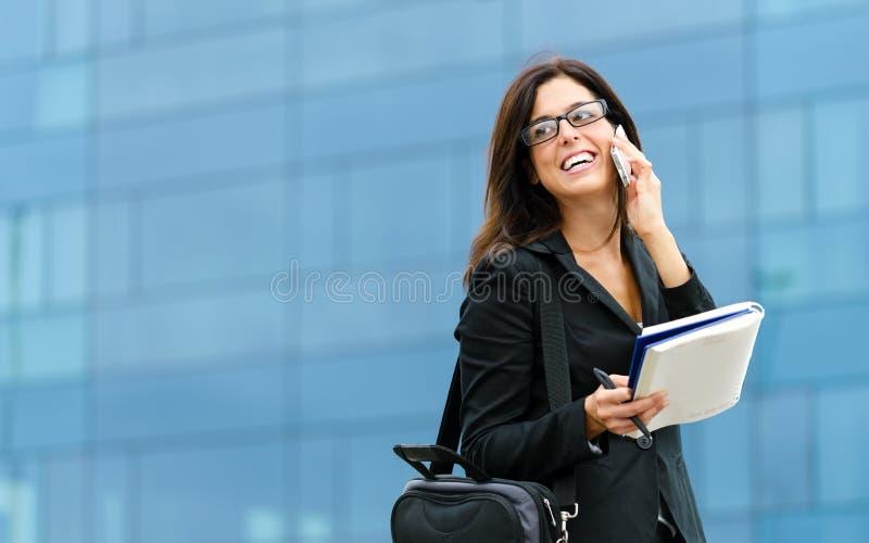 Erfolgreicher weiblicher Unternehmer lizenzfreie stockfotos