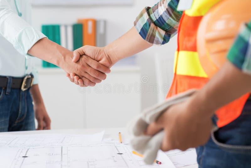 Erfolgreiches Abkommen stockfoto