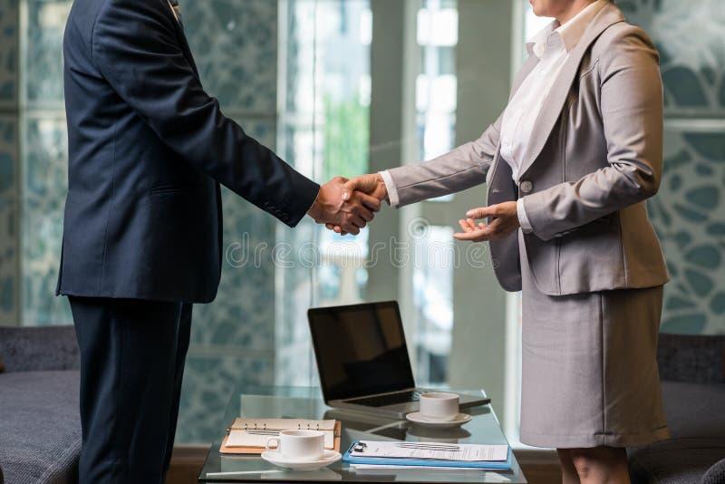Erfolgreiches Abkommen lizenzfreie stockbilder