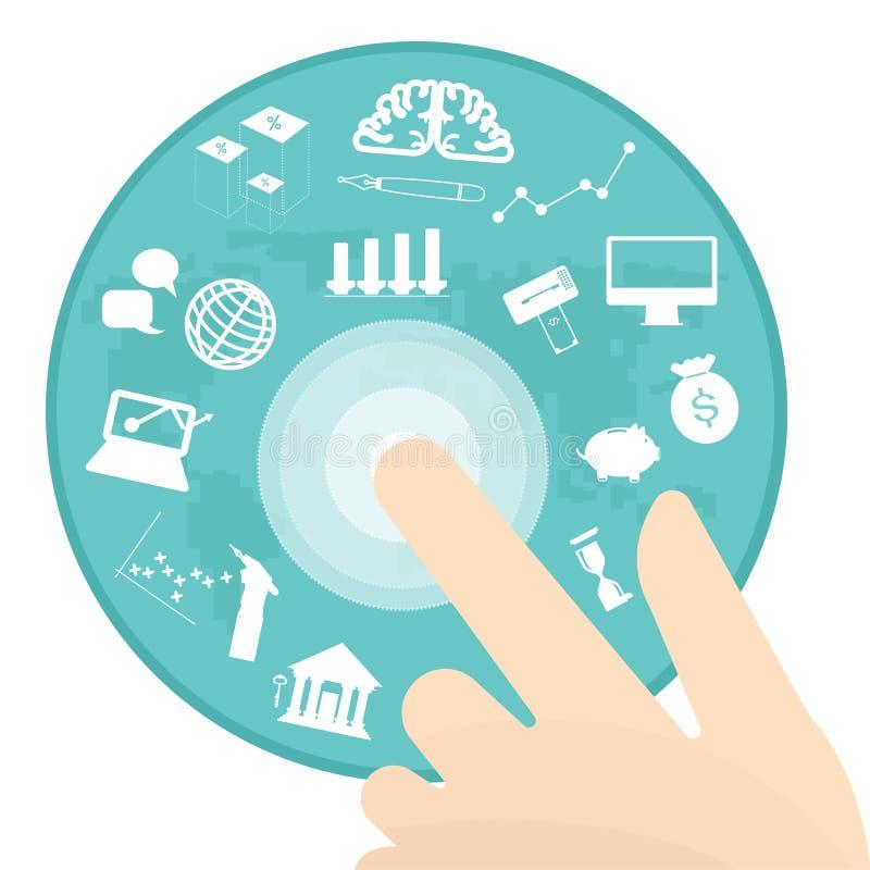Erfolgreiches Geschäftsgeld der Technologie-Transfer-Bank stock abbildung