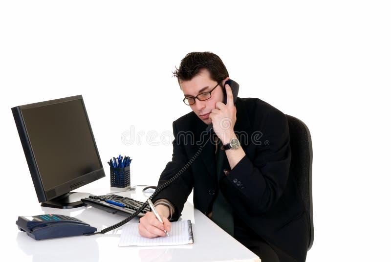 Erfolgreiches Geschäftsmannbüro lizenzfreies stockbild