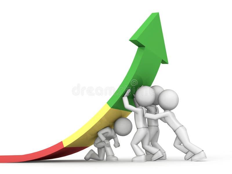 Erfolgreiches Geschäftsteam vektor abbildung