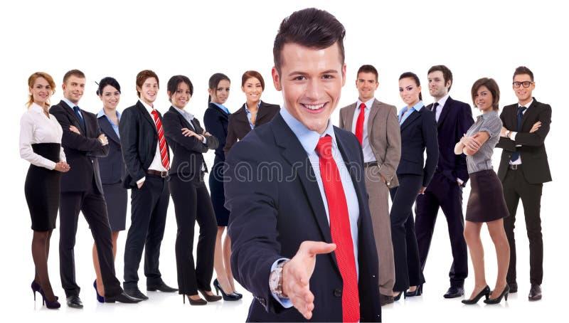 Erfolgreiches Geschäftsteam stockbilder