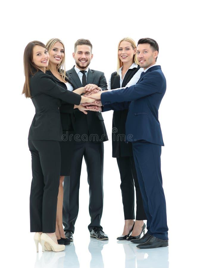 Erfolgreiches Geschäftsteam lokalisiert auf weißem Hintergrund stockbilder
