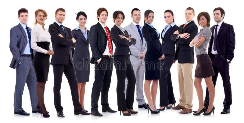 Erfolgreiches glückliches Geschäftsteam stockbild