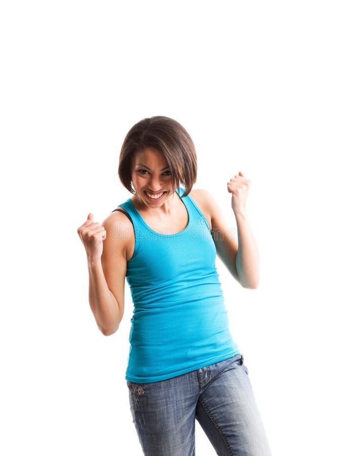 Erfolgs-Afroamerikanerfrau stockfoto