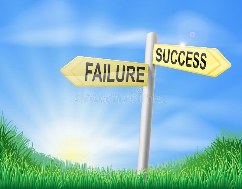 Erfolgs- oder Ausfallzeichenkonzept vektor abbildung