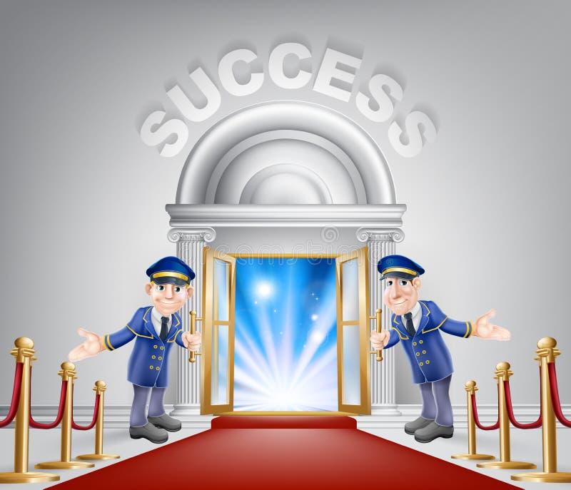 Erfolgs-roter Teppich-Eingang stock abbildung
