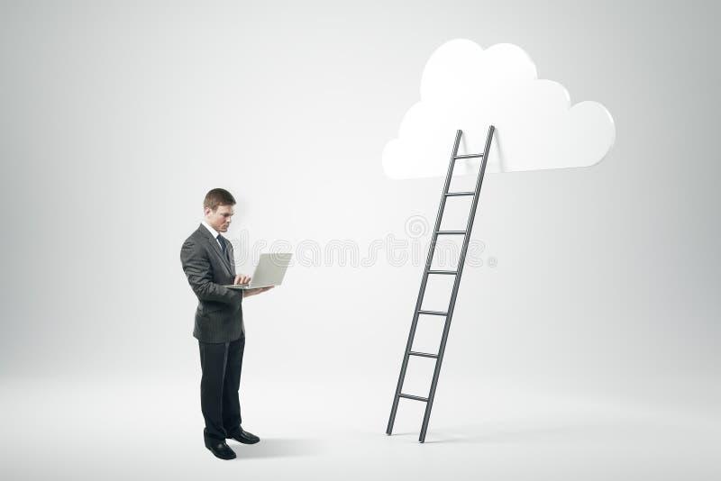 Erfolgs-, Wachstums- und Technologiekonzept lizenzfreie stockfotografie