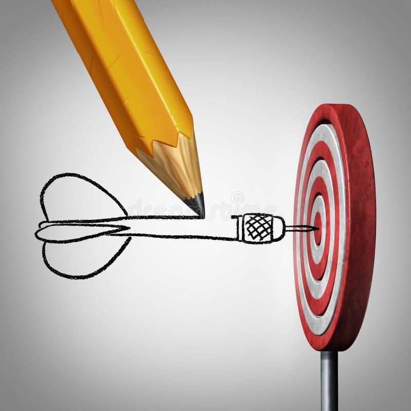 Erfolgs-Ziel-Planung stock abbildung