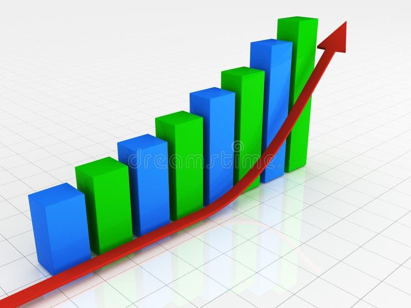 Erfolgsdiagramm lizenzfreie abbildung