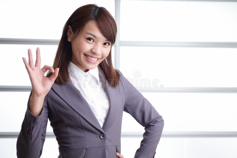 ErfolgsGeschäftsfrau lizenzfreie stockfotografie