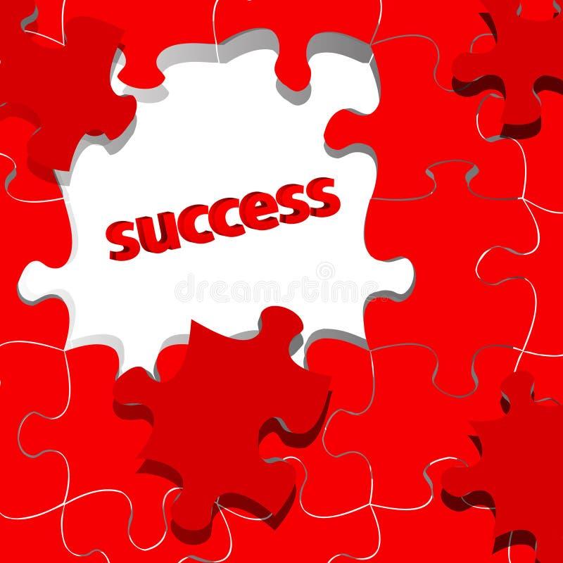 Erfolgskonzept mit Puzzlespiel lizenzfreie abbildung