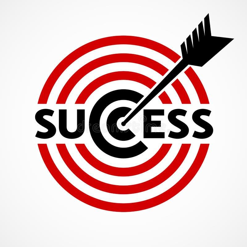 Erfolgskonzept mit Ziel und Pfeil vektor abbildung