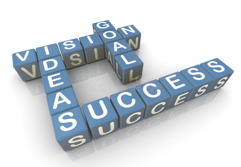 Erfolgskreuzworträtsel stock abbildung
