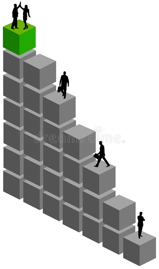 Download Erfolgsleute stock abbildung. Illustration von marketing - 47100746