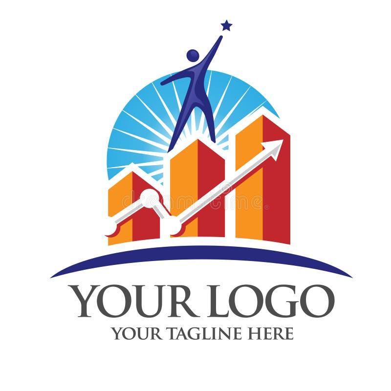 Erfolgsmarketing-Logo lizenzfreie abbildung