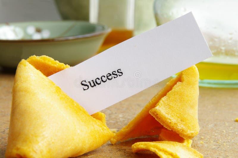 Erfolgsplätzchen stockbild