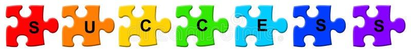 Erfolgspuzzlespiel vektor abbildung