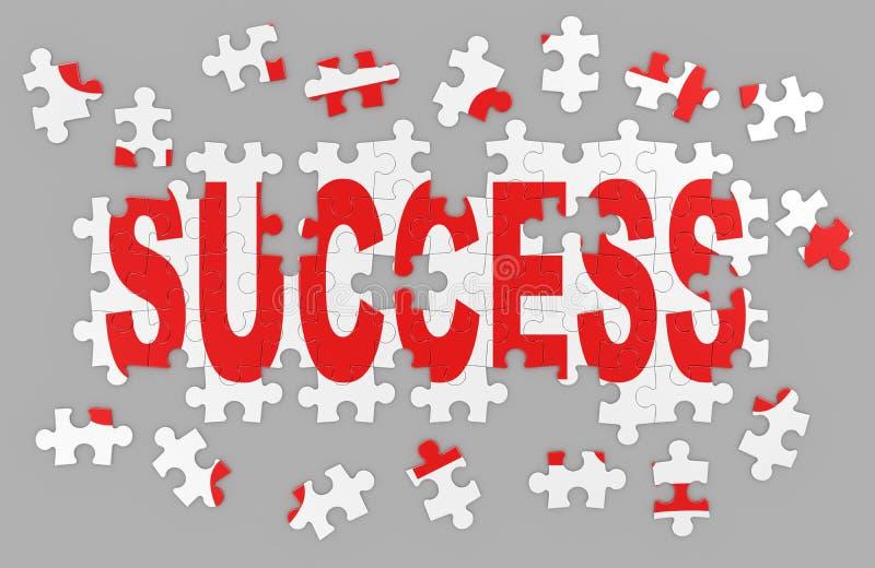 Erfolgspuzzlespiel lizenzfreie abbildung