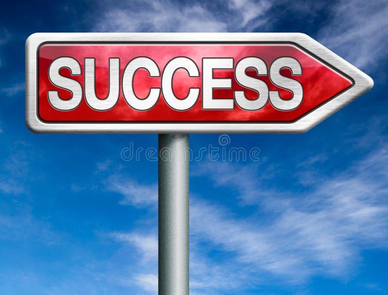 Erfolgsstraße zum erfolgreichen Geschäft lizenzfreie abbildung