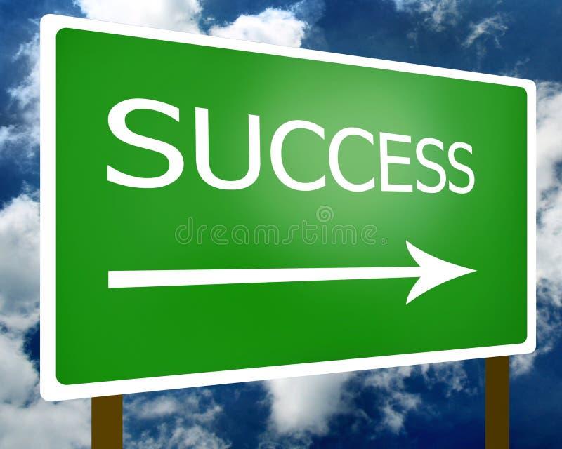 Erfolgszeichensymbol lizenzfreie stockfotos