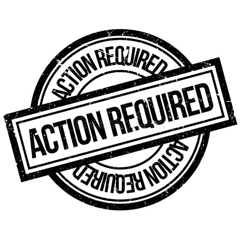 Erforderlicher Stempel der Aktion vektor abbildung