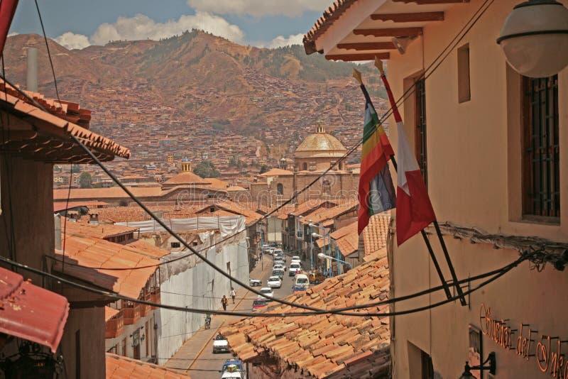 Erforschen Sie peruanische Straßen lizenzfreie stockbilder