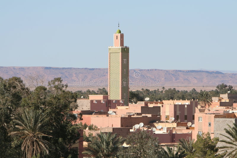 erfoud摩洛哥屋顶 库存照片