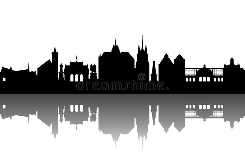 erfurt abstrakcjonistyczna linia horyzontu royalty ilustracja