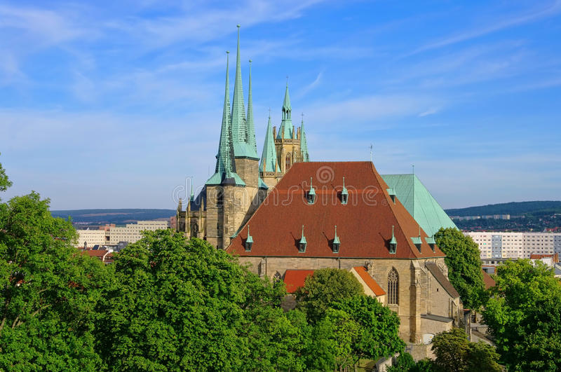 Download Erfurt cathedral stock image. Image of house, town, stone - 26468257