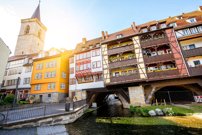 Erfurt city in Germany stock photography