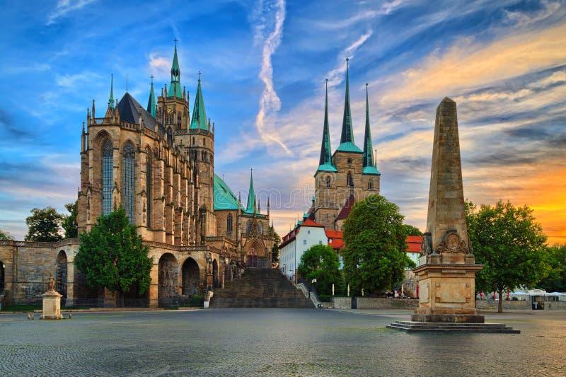Erfurt dom Tyskland royaltyfri bild