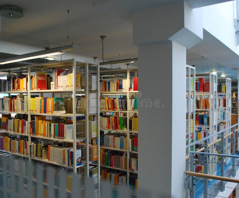 Erfurt. International Books On Library Shelf in university royalty free stock photos