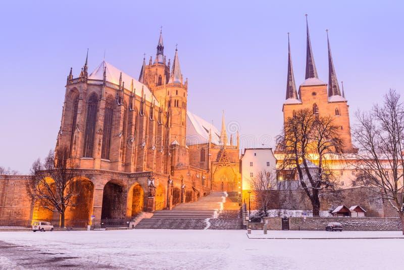 Erfurt - la Germania fotografia stock libera da diritti