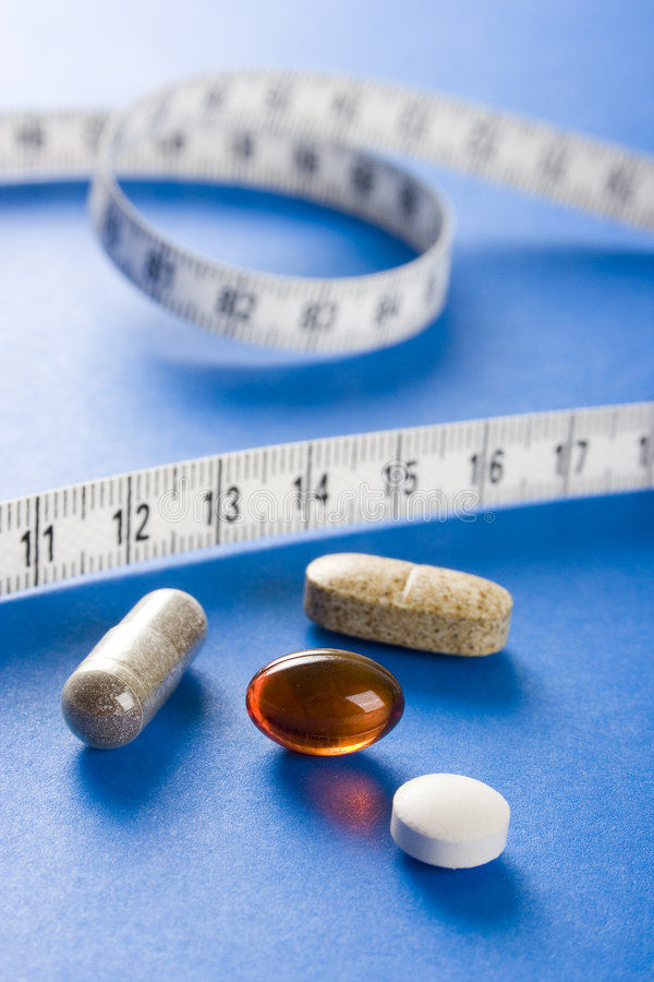 Ergänzung der Diät (cyjan) stockfotografie