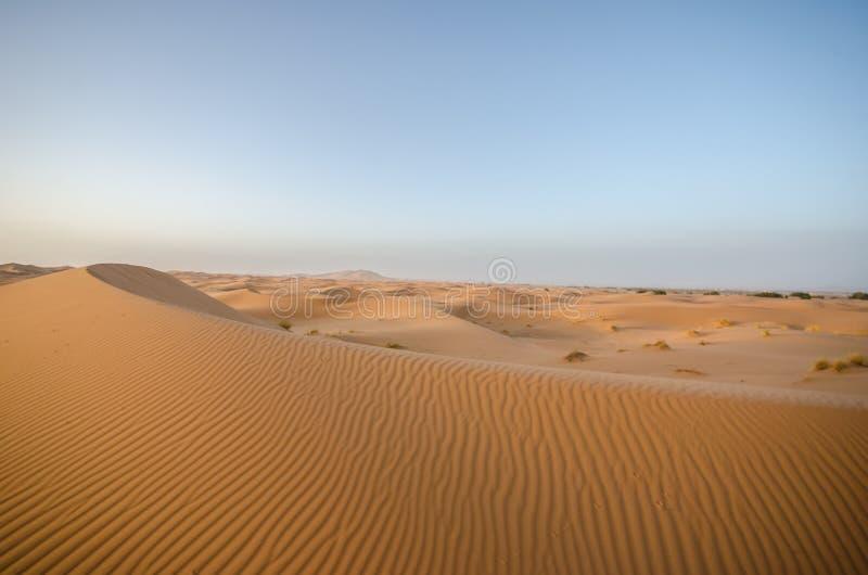 ERG Chebbi, deserto del Marocco immagine stock libera da diritti