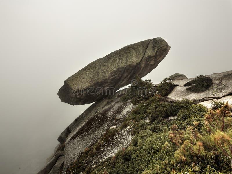 The hanging stone, ergaki, Siberia royalty free stock photo