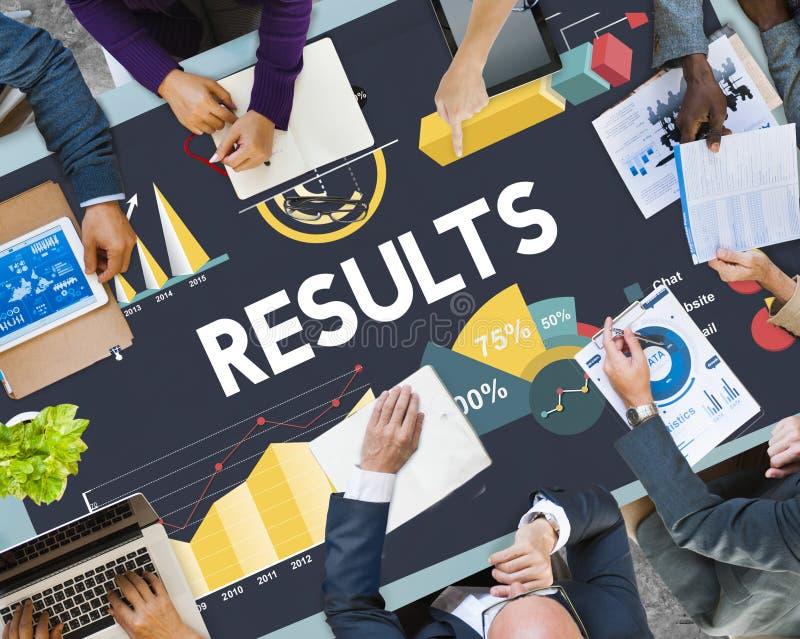 Ergebnis-Prozentsatz-Geschäfts-Diagramm-Konzept lizenzfreie stockfotografie