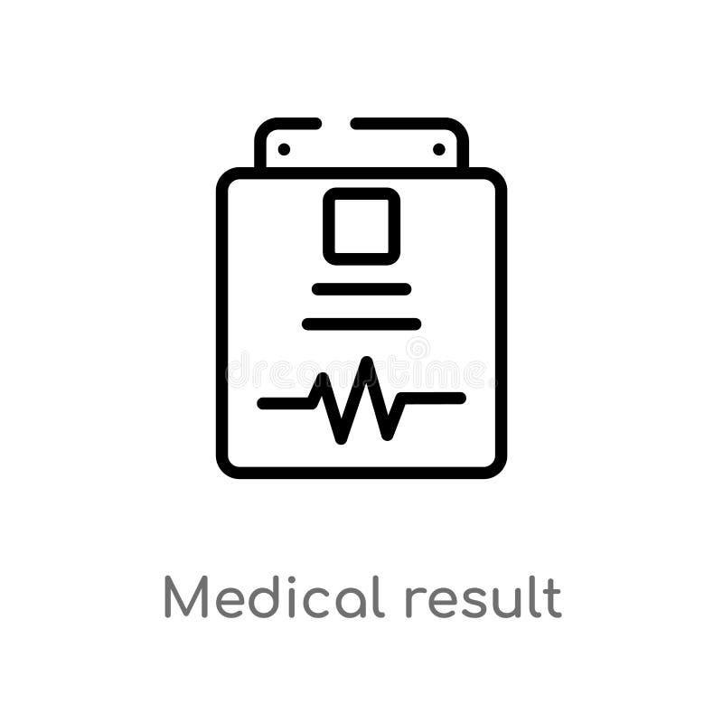 Ergebnis-Vektorikone des Entwurfs medizinische lokalisiertes schwarzes einfaches Linienelementillustration von der Gesundheit und lizenzfreie abbildung
