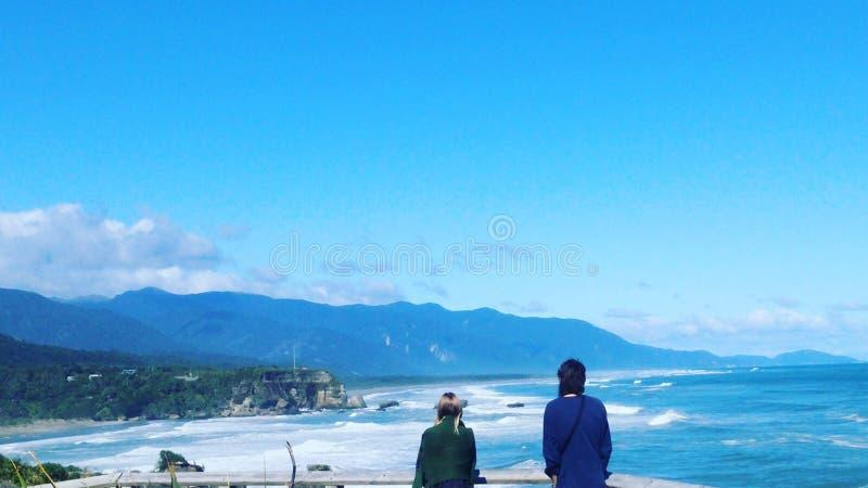 Ergens in Nieuw Zeeland Westkust stock foto's