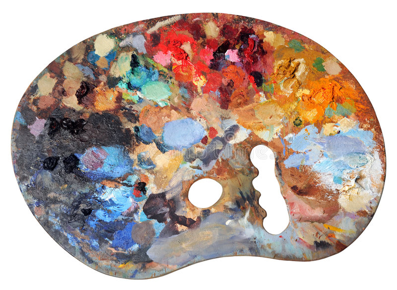 Download Ergonomic Artist's Palette Royalty Free Stock Photography - Image: 7969377