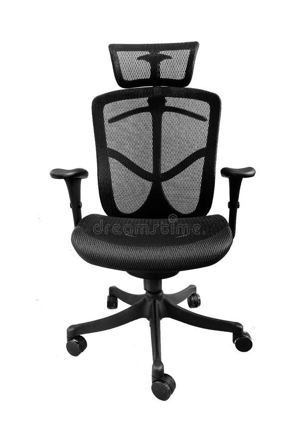 Ergonomic siatki biurowy krzesło na białym tle fotografia royalty free