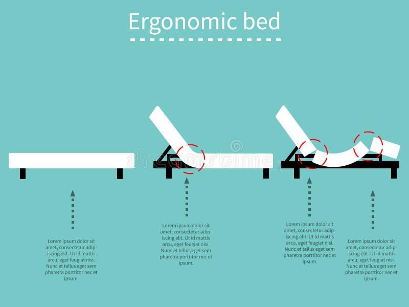 Ergonomisch bed 1 stock illustratie