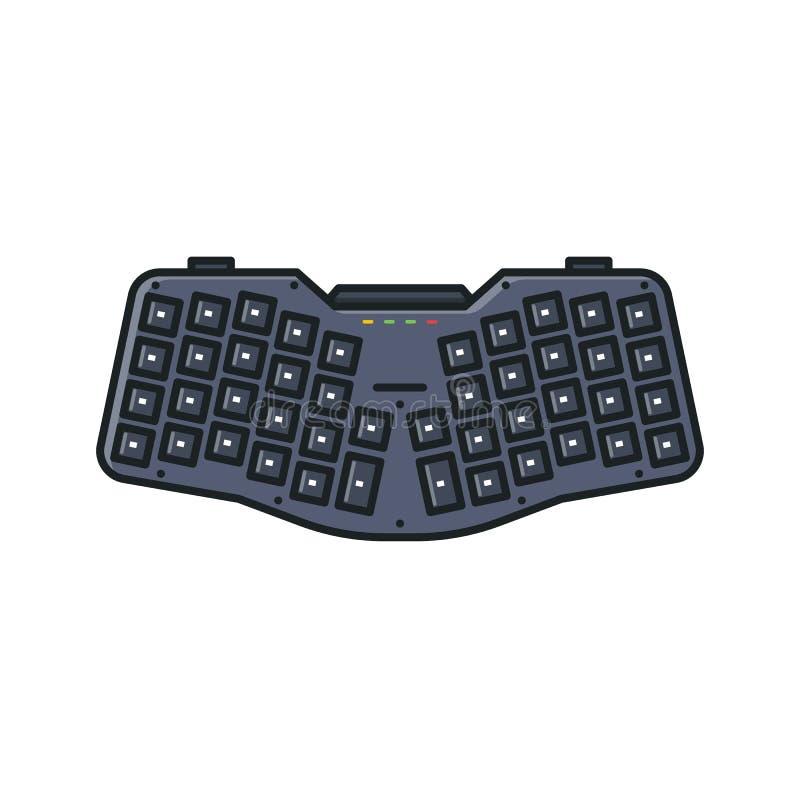 Ergonomisch douanetoetsenbord vector illustratie